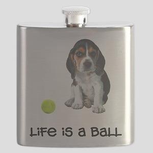 FIN-beagle-puppy-life Flask