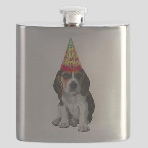 Birthday Beagle Flask
