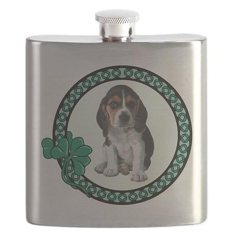 FIN-beagle-st-pats.png Flask