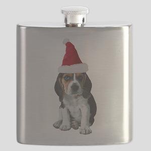 FIN-beagle-puppy-santa Flask