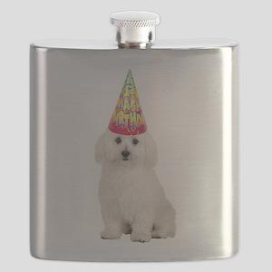 FIN-bichon-frise-birthday Flask