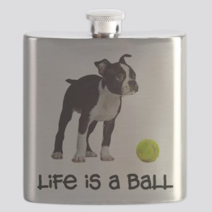 Boston Terrier Life Flask