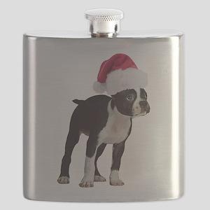 Boston Terrier Christmas Flask