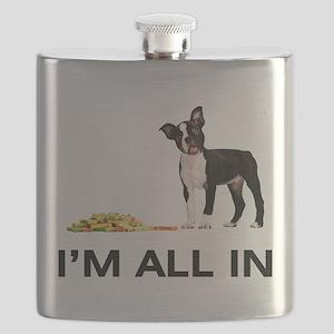 Boston Terrier Poker Flask