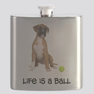 FIN-boxer-fawn-life Flask