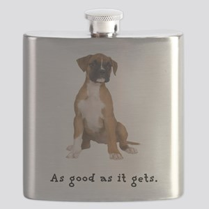 FIN-boxer-fawn-good Flask
