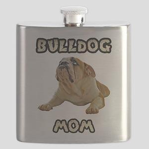 Bulldog Mom Flask