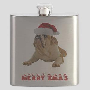 FIN-bulldog-lying-merry-xmas Flask