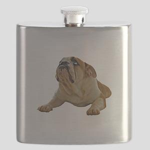 FIN-bulldog-lying-photo Flask