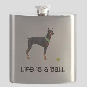 FIN-doberman-pinscher-life-ball Flask