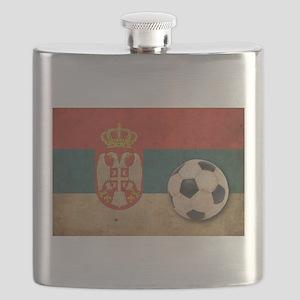 Vintage Serbia Football Flask