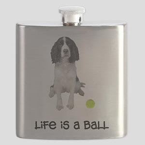 FIN-springer-spaniel-brown-life Flask