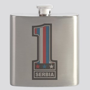 Number One Serbia Flask