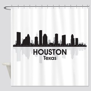 Houston Skyline Shower Curtain