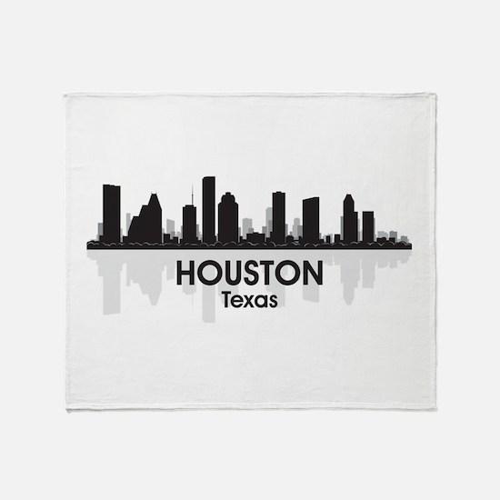 Houston Skyline Throw Blanket