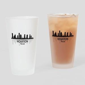 Houston Skyline Drinking Glass