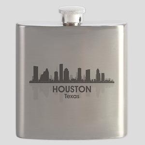 Houston Skyline Flask