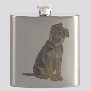 FIN-german-shepherd-puppy-photo Flask