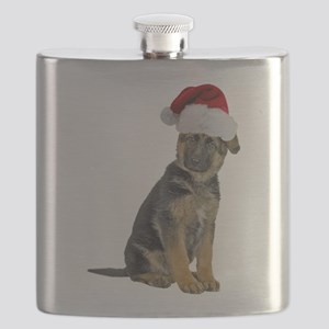 FIN-german-shepherd-santa-CROP Flask