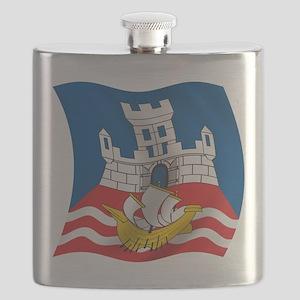 Wavy Beograd Flag Flask