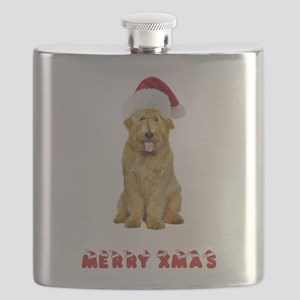 Goldendoodle Christmas Flask