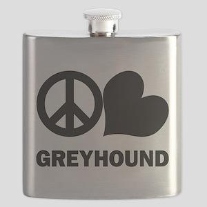 FIN-peace-love-greyhound Flask