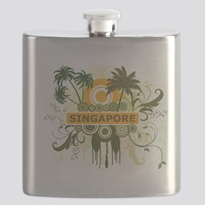 Palm Tree Singapore Flask
