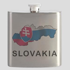 Map Of Slovakia Flask