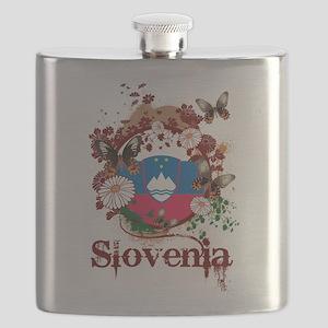 Butterfly Slovenia Flask
