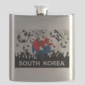 South Korea Football Flask