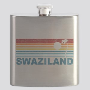 Retro Palm Tree Swaziland Flask