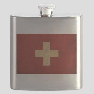 Vintage Switzerland Flag Flask