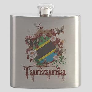 Butterfly Tanzania Flask