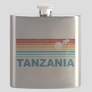 Retro Palm Tree Tanzania Flask