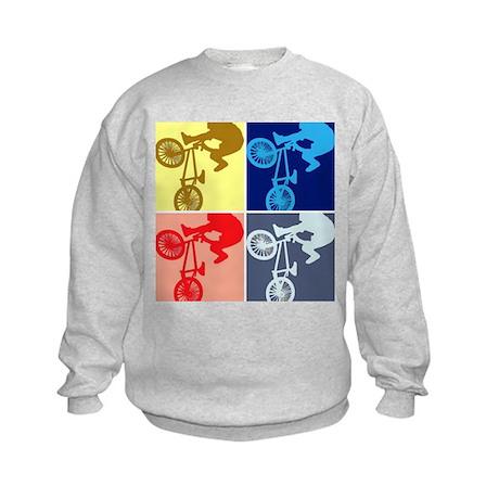 BMX Bike Rider/Pop Art Kids Sweatshirt