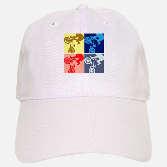 BMX Bike Rider/Pop Art Baseball Baseball Cap