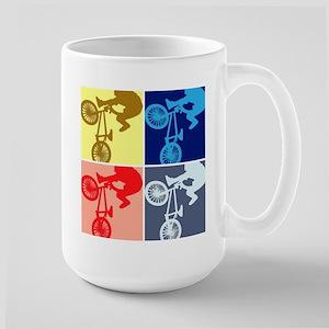BMX Bike Rider/Pop Art Large Mug