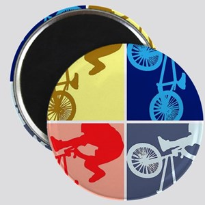 BMX Bike Rider/Pop Art Magnet