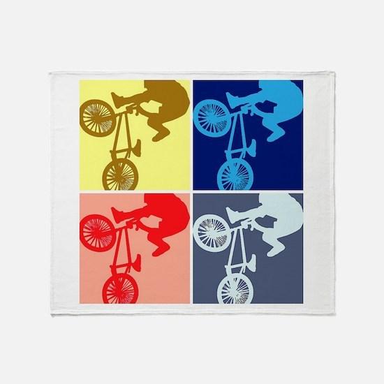 BMX Bike Rider/Pop Art Throw Blanket