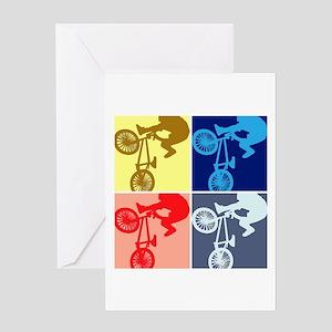 BMX Bike Rider/Pop Art Greeting Card
