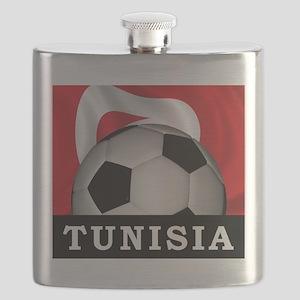 Tunisia Football Flask