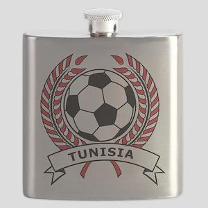Soccer Tunisia Flask