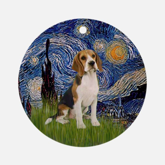 Starry Night - Beagle Ornament (Round)