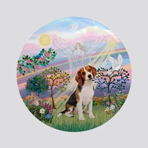 CloudAngel2 - Beagle Ornament (Round)