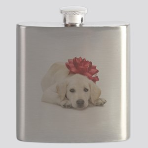 Yellow Lab Puppy Flask