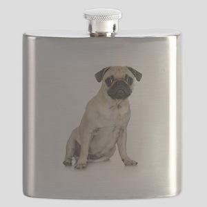 FIN-fawn-pug-photo Flask
