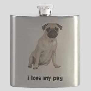FIN-fawn-pug-love Flask