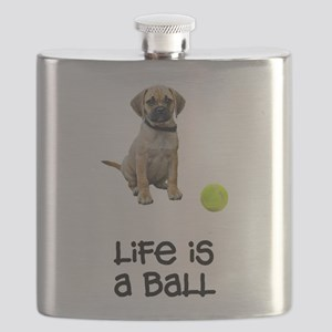 FIN-puggle-life Flask