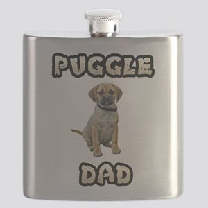 Puggle Dad Flask