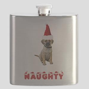 FIN-puggle-naughty Flask